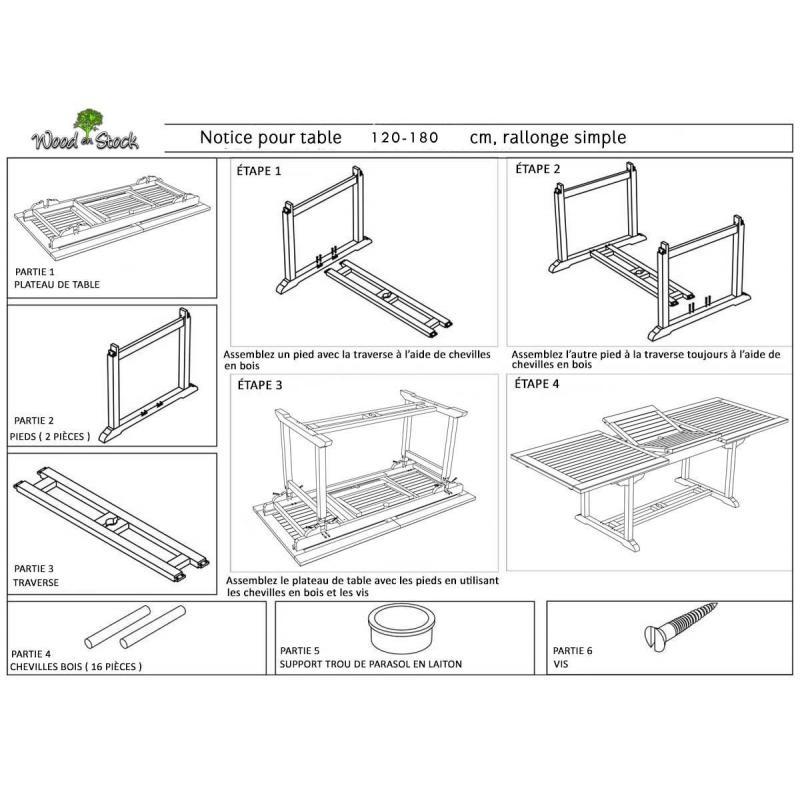 Plan Table Exterieur Bois