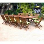 salon-en-teck-huile-Bornéo-Kuta avec coussins