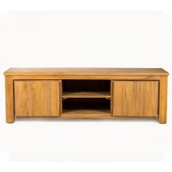 meuble TV en teck brut 160 cm x 50 x 50 cm Asha