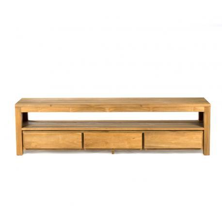meuble télé en teck brut 185 cm x 60 x 45 cm - Abey