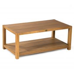 table basse de salon en teck massif 110 x 60 cm - Himala