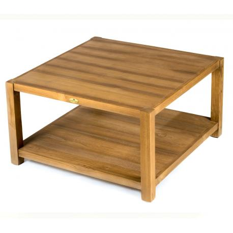 Table Basse En Teck De Salon 80 X 80 Cm Himala