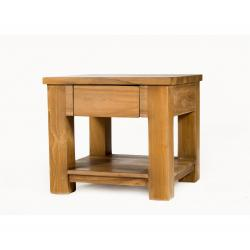 table basse en teck Huyana de salon 50 x 50 cm