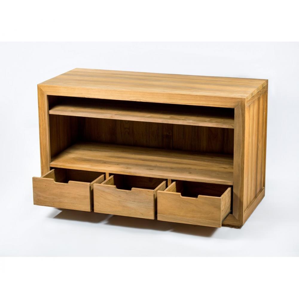 meuble de salle de bain bois en teck massif naturel et exotique evolah. Black Bedroom Furniture Sets. Home Design Ideas