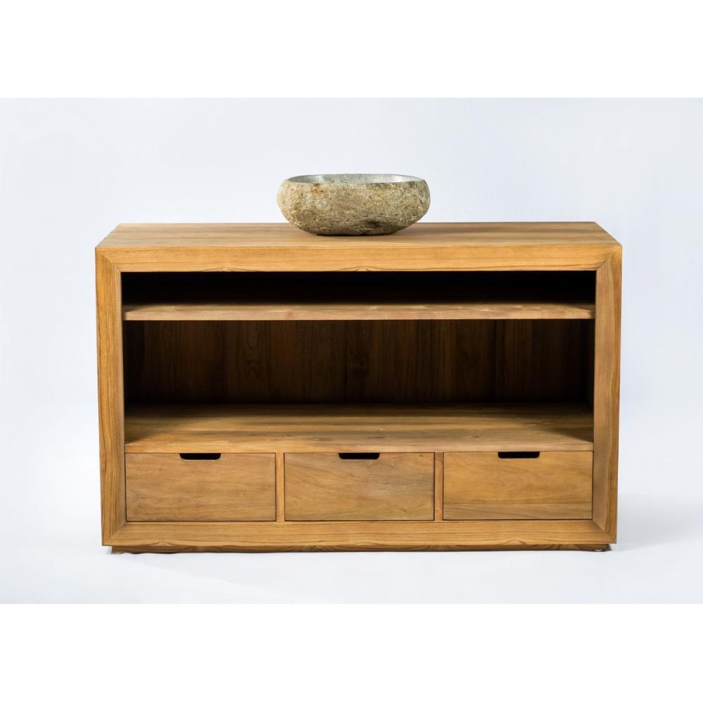 Meuble En Palette Salle De Bain meuble de salle de bain bois en teck massif naturel et