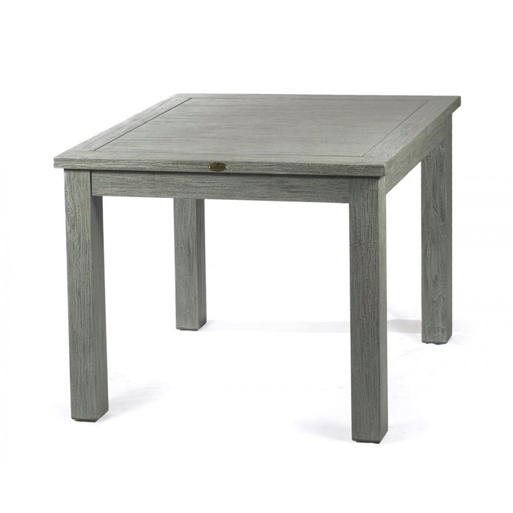 Table de salon bois en teck massif de 90x90cm de la gamme - Table de salon en teck ...