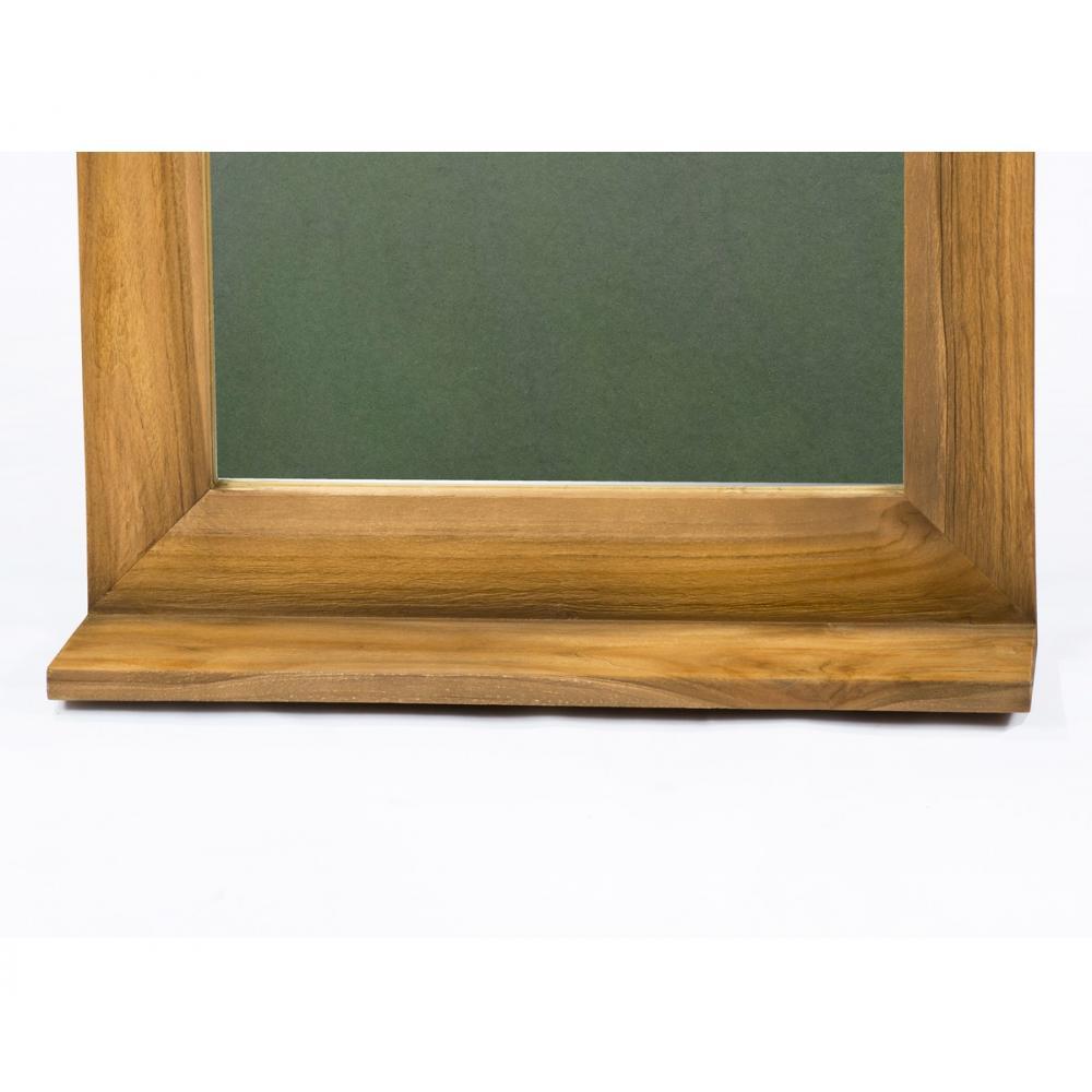 Miroir Teck Style Vintage Pour Salle De Bain Avec Tablette