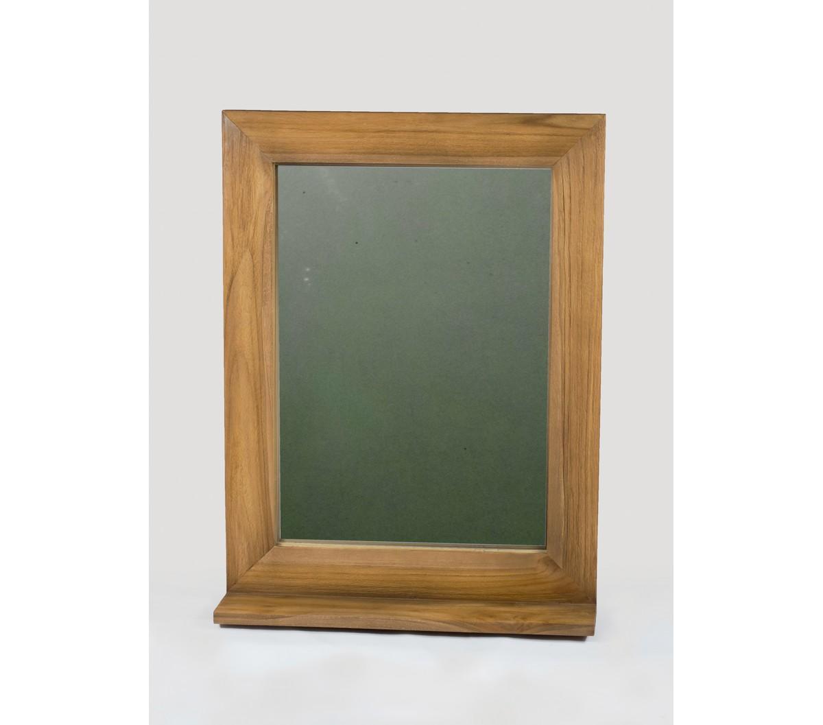 Tablette Salle De Bain 80 Cm miroir de salle de bain en teck avec tablette 60 x 80 cm