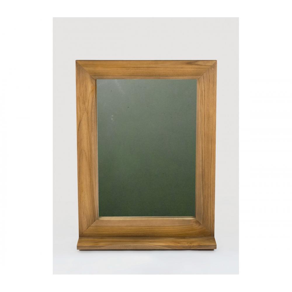 Miroir teck style vintage pour salle de bain avec tablette ...
