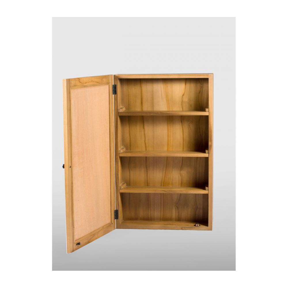 armoire pharmacie avec miroir 50x80cm en teck massif naturel et exotique. Black Bedroom Furniture Sets. Home Design Ideas