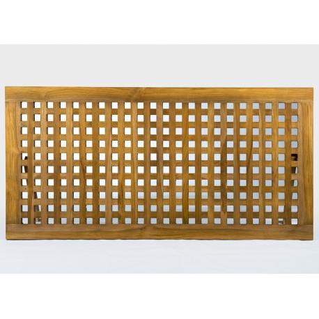 caillebotis pour salle de bain en teck finition rustique INOS 120 X 60 cm