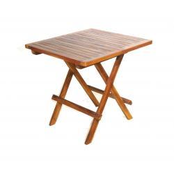 Table basse pliante Picnic 50 x 50 cm en teck huilé