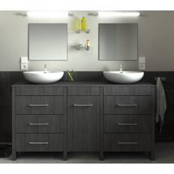 ensemble Meuble de salle de bain 150cm ROMA couleur teck marine
