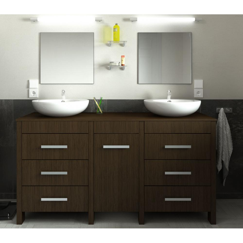 ensemble meuble de salle de bain 150cm roma couleur weng z br wood en stock. Black Bedroom Furniture Sets. Home Design Ideas
