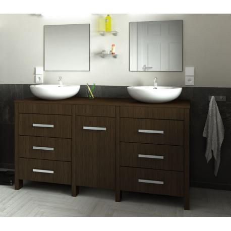 ensemble Meuble de salle de bain 150cm ROMA couleur chène