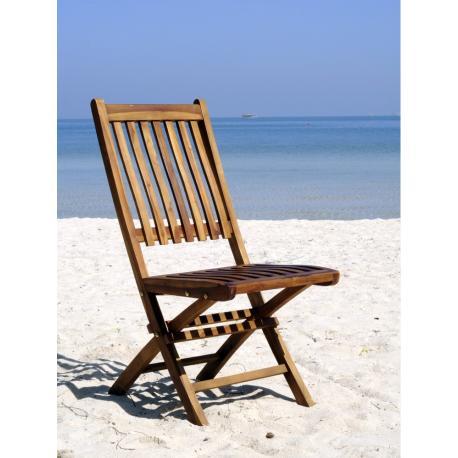 Chaise de jardin en teck - Lux - modèle supérieur pliant