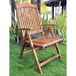 fauteuil en teck inclinable - fauteuil de jardin grand confort