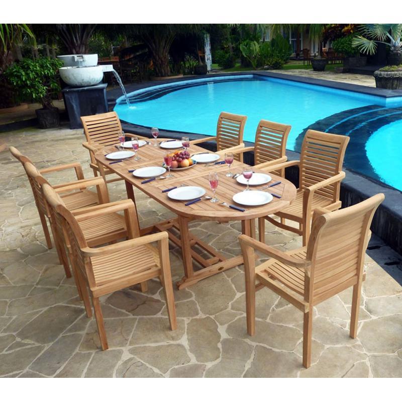 Ensemble en teck brut en promotion 8 fauteuils meubles de jardin en ...