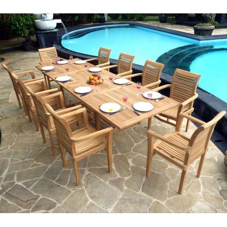Salon borneo Raja ensemble avec une grande table et 10 larges ...