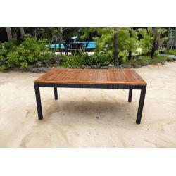 Table en teck et résine - modèle 180x90 cm
