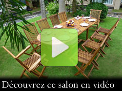salon de jardin en teck 10 places