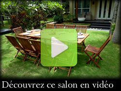 video : salon de jardin en teck 10 places