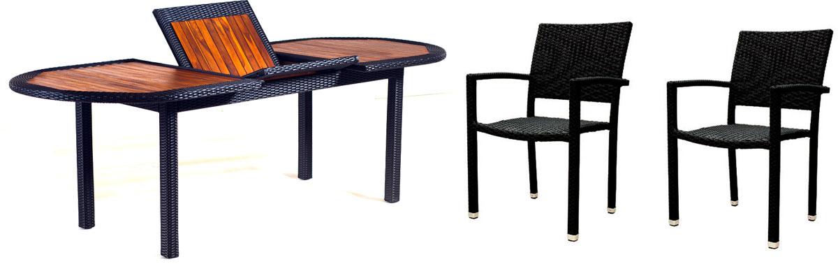 ensemble table et fauteuils de jardin