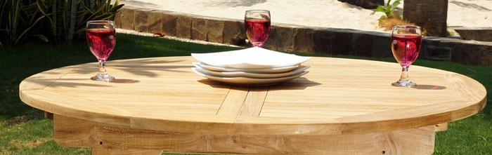 table de jardin en teck plié : 4 places