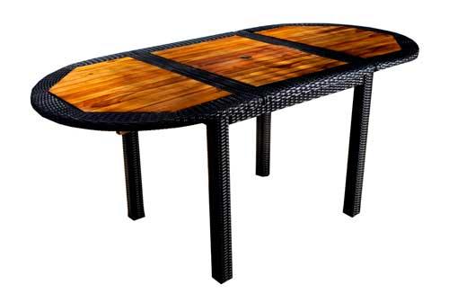 table de jardin en teck et résine