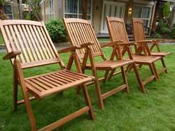 fauteuils de jardin inclinable