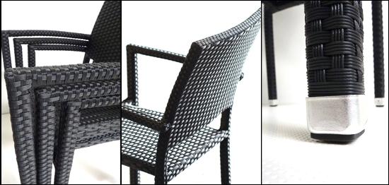 fauteuils empilables de jardin en resine tressee