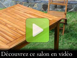 salon de jardin teck huile en video