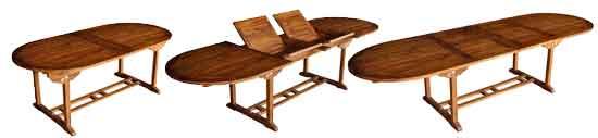table de jardin Sumatra en teck huilé