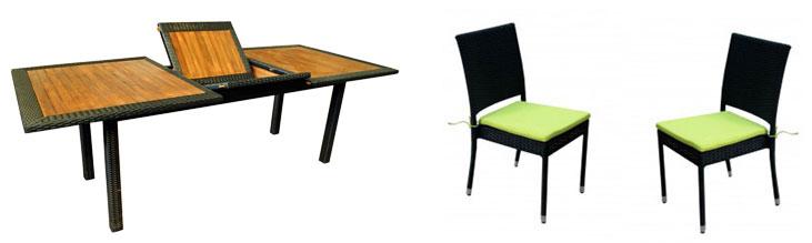 ensemble table et chaises de jardin