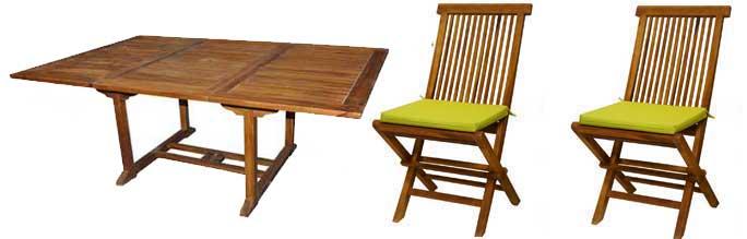 ensemble de jardin table et chaises