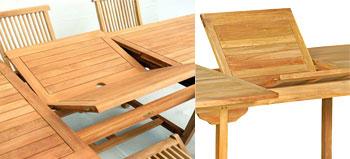 Table de jardin en teck ovale 8 places 170-230 cm