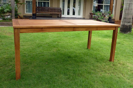 table en teck nias 180 cm