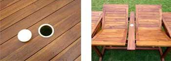 double rallonge - table de jardin teck