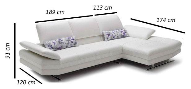 dimensions canapés