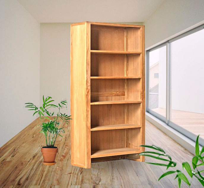 bibliotheque en teck premium Madya