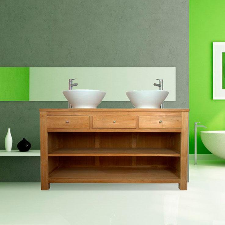 salle de bain en teck