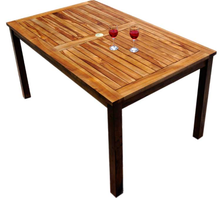 table en teck nias 150 cm