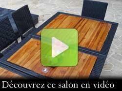 la vidéo de votre salon en teck Flores