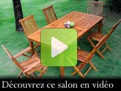salon de jardin en teck : vidéo