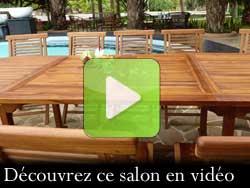 vidéo du salon en teck hanton sumatra